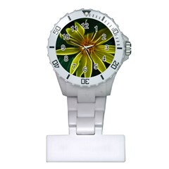 Yellow Wildflower Abstract Nurses Watch
