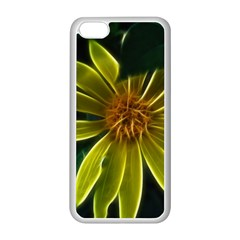 Yellow Wildflower Abstract Apple iPhone 5C Seamless Case (White)