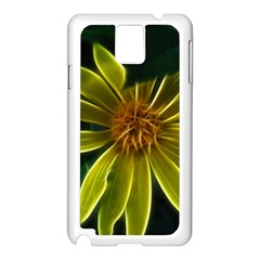 Yellow Wildflower Abstract Samsung Galaxy Note 3 N9005 Case (white)