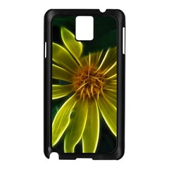 Yellow Wildflower Abstract Samsung Galaxy Note 3 N9005 Case (Black)
