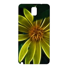Yellow Wildflower Abstract Samsung Galaxy Note 3 N9005 Hardshell Back Case