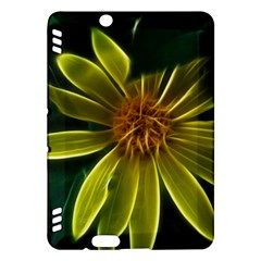 Yellow Wildflower Abstract Kindle Fire HDX 7  Hardshell Case