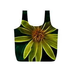Yellow Wildflower Abstract Reusable Bag (S)