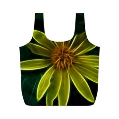 Yellow Wildflower Abstract Reusable Bag (m)