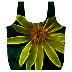 Yellow Wildflower Abstract Reusable Bag (XL)
