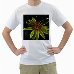 Yellow Wildflower Abstract Men s T-Shirt (White)