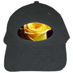 Yellow Rose Curling Black Baseball Cap