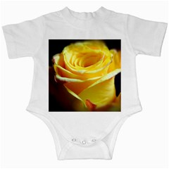 Yellow Rose Curling Infant Bodysuit