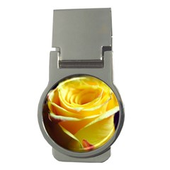 Yellow Rose Curling Money Clip (Round)