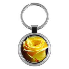 Yellow Rose Curling Key Chain (Round)
