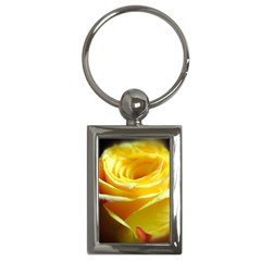 Yellow Rose Curling Key Chain (Rectangle)