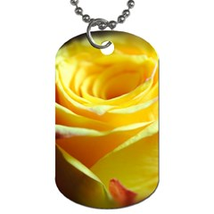 Yellow Rose Curling Dog Tag (Two-sided)