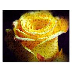 Yellow Rose Curling Jigsaw Puzzle (rectangle)