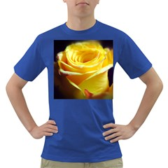Yellow Rose Curling Men s T-shirt (Colored)