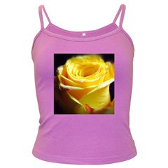 Yellow Rose Curling Spaghetti Top (colored)