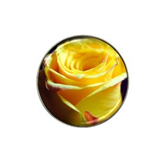 Yellow Rose Curling Golf Ball Marker 4 Pack (for Hat Clip)