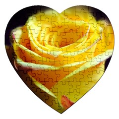 Yellow Rose Curling Jigsaw Puzzle (Heart)