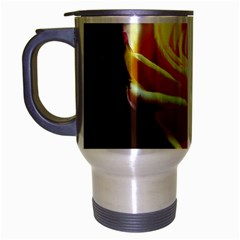 Yellow Rose Curling Travel Mug (Silver Gray)