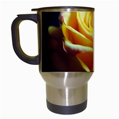 Yellow Rose Curling Travel Mug (White)