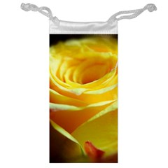 Yellow Rose Curling Jewelry Bag
