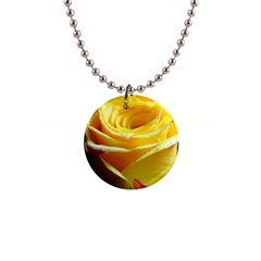 Yellow Rose Curling Button Necklace
