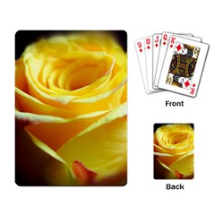 Yellow Rose Curling Playing Cards Single Design
