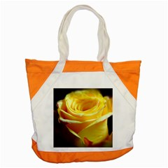 Yellow Rose Curling Accent Tote Bag