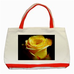 Yellow Rose Curling Classic Tote Bag (red)