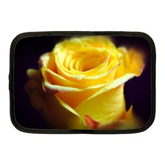 Yellow Rose Curling Netbook Sleeve (medium)