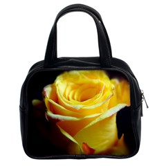 Yellow Rose Curling Classic Handbag (Two Sides)