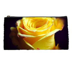 Yellow Rose Curling Pencil Case