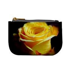 Yellow Rose Curling Coin Change Purse