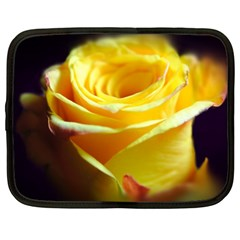 Yellow Rose Curling Netbook Sleeve (XL)