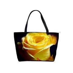 Yellow Rose Curling Large Shoulder Bag