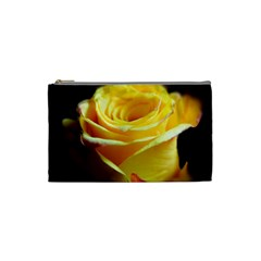 Yellow Rose Curling Cosmetic Bag (small)