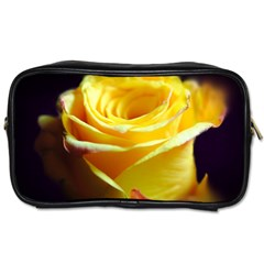 Yellow Rose Curling Travel Toiletry Bag (two Sides)