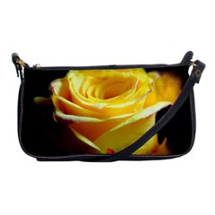 Yellow Rose Curling Evening Bag