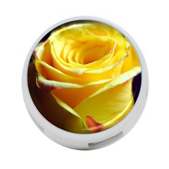 Yellow Rose Curling 4-Port USB Hub (Two Sides)