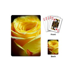Yellow Rose Curling Playing Cards (Mini)
