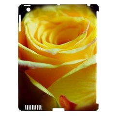 Yellow Rose Curling Apple iPad 3/4 Hardshell Case (Compatible with Smart Cover)