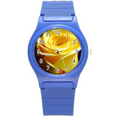 Yellow Rose Curling Plastic Sport Watch (small)