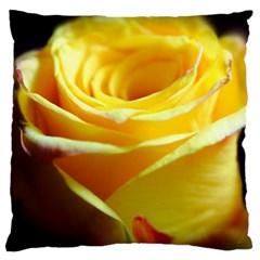 Yellow Rose Curling Large Cushion Case (Two Sided)