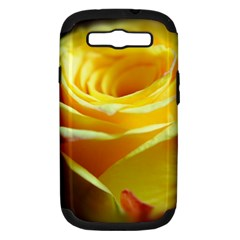 Yellow Rose Curling Samsung Galaxy S Iii Hardshell Case (pc+silicone)