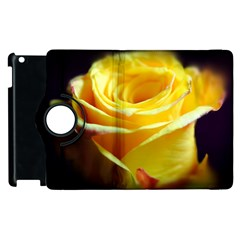 Yellow Rose Curling Apple iPad 3/4 Flip 360 Case