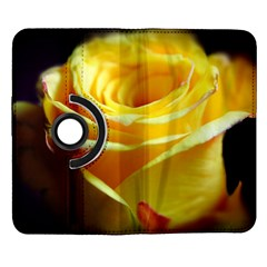 Yellow Rose Curling Samsung Galaxy Note II Flip 360 Case