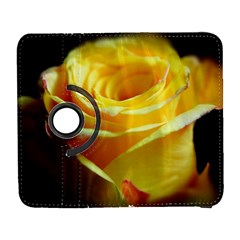 Yellow Rose Curling Samsung Galaxy S  III Flip 360 Case
