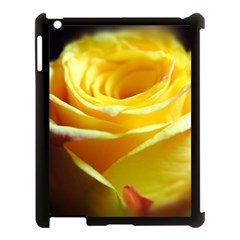 Yellow Rose Curling Apple Ipad 3/4 Case (black)
