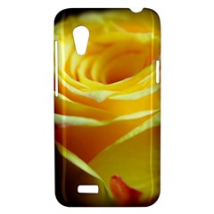 Yellow Rose Curling HTC Desire VT (T328T) Hardshell Case