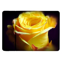 Yellow Rose Curling Samsung Galaxy Tab 8 9  P7300 Flip Case