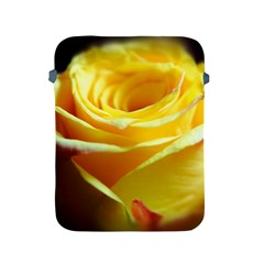 Yellow Rose Curling Apple iPad Protective Sleeve